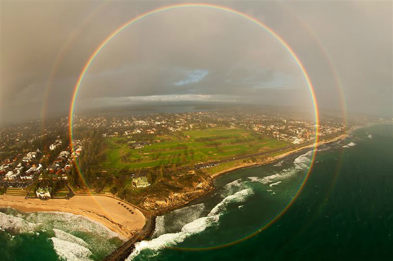 HAVE YOU EVER SEEN A RAINBOW LIKE THIS?